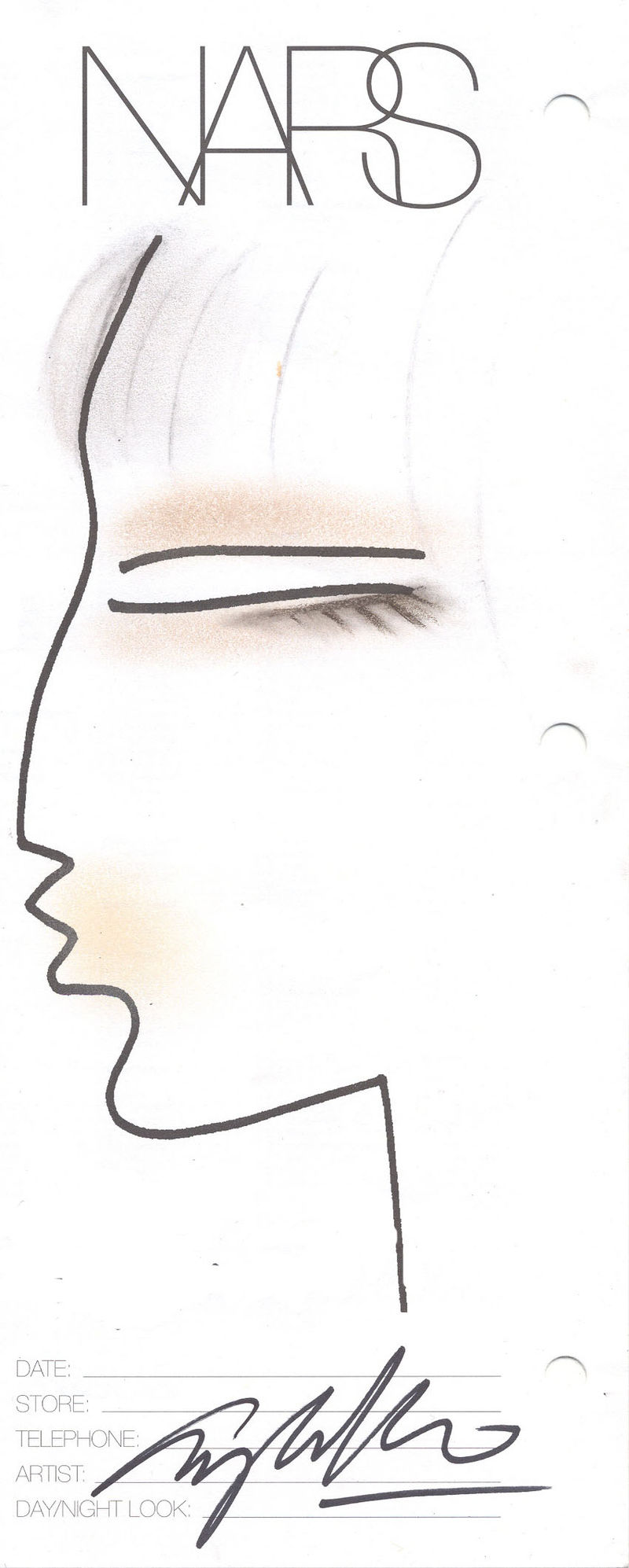 NARS Phillip Lim face chart