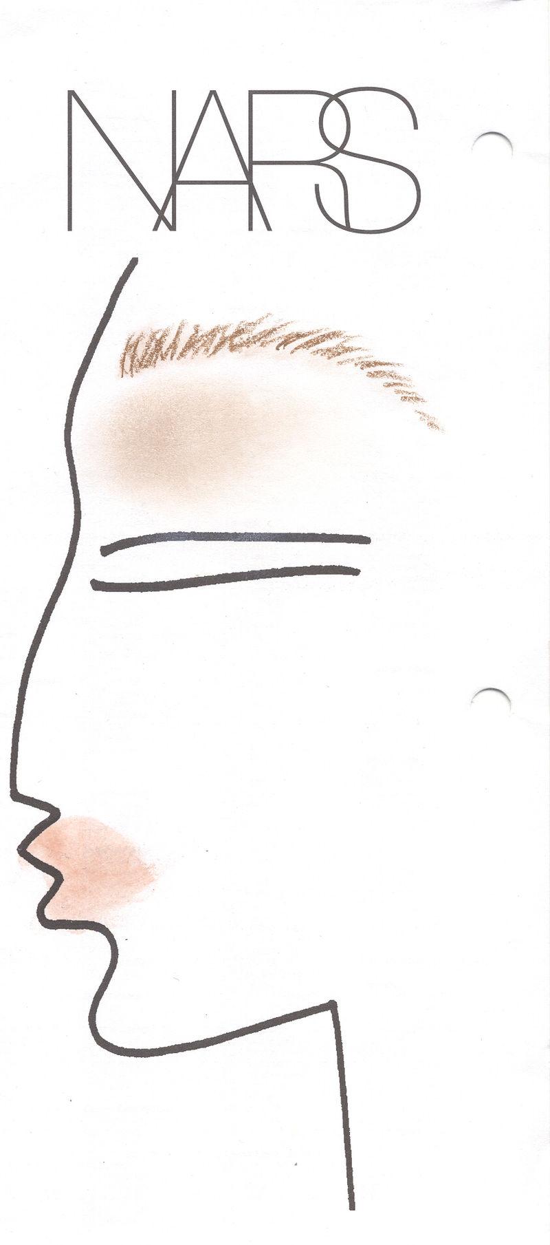 NARS face chart