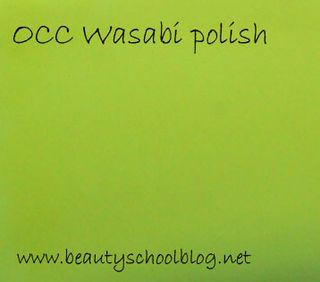 Occ wasabi np swatch copy
