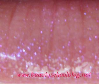 MAC Dazzleglass Date Night swatch on lips