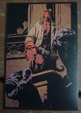 Hellboy postcard
