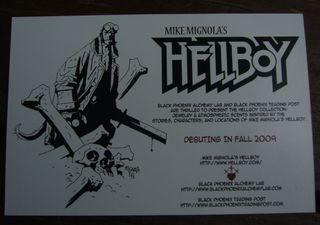 Hellboy postcare back