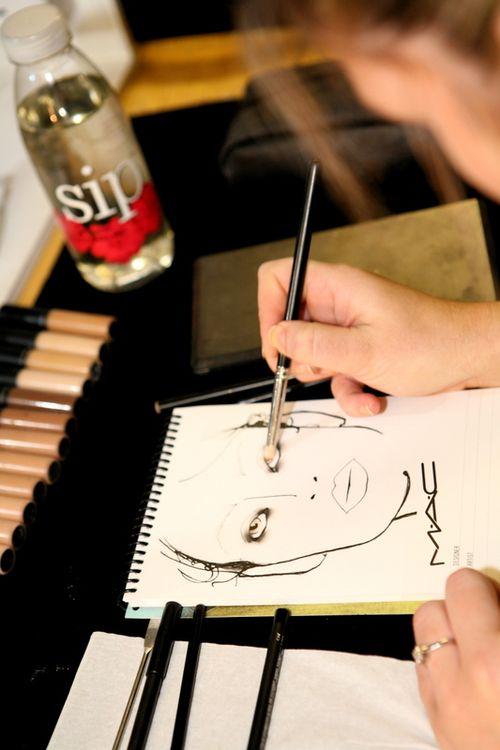 Mac makeup sketch