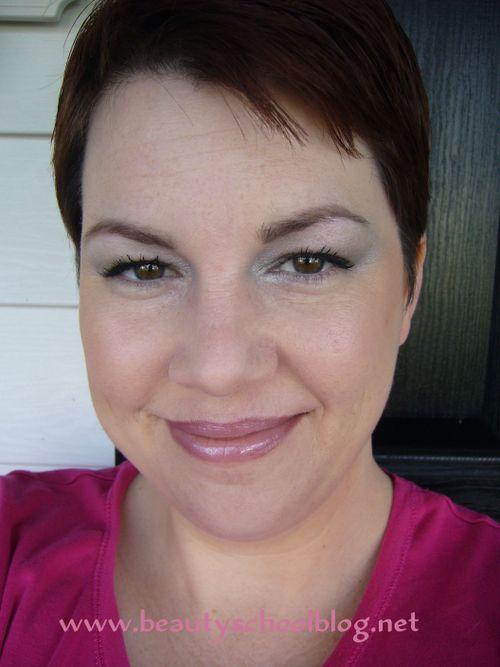pretty pink eye makeup. Green and Silver eye makeup
