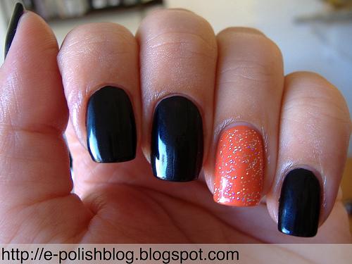 7 Days of Halloween Nail Art - Day 2 (orange & black ...