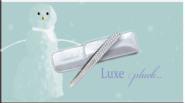 Luxe Edition Crystal Slant Tweezer Tweezerman