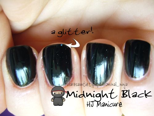 Midnight black glitter