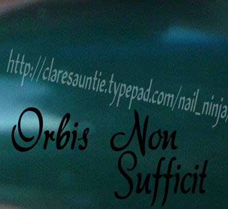 Orbis non suficit swatch