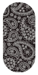 Black and white paisley