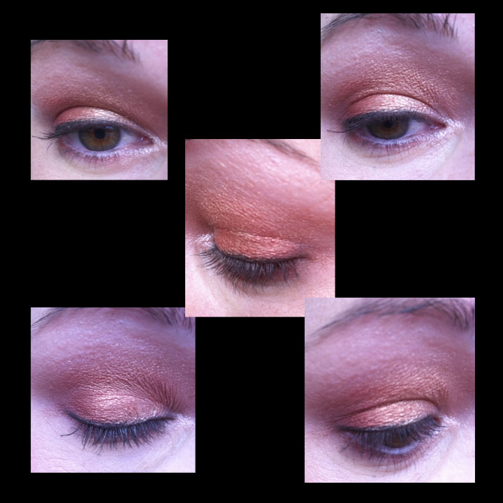 Sunset eyes with mac melon pigment