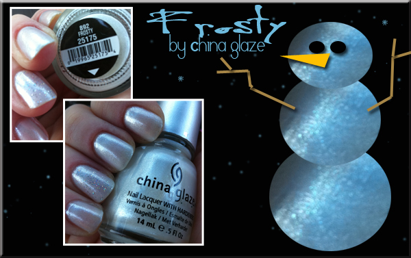 Frosty china glaze nail polish swatch