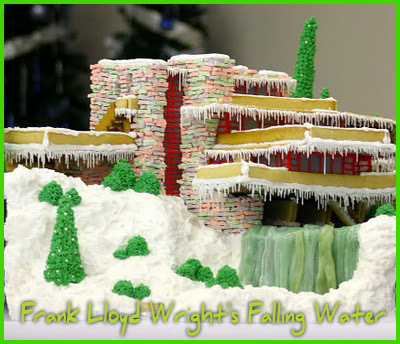 Frank Lloyd Wright's Falling Water gingerbread