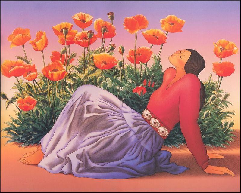 Rudolph-Carl-Gorman-Woman-With-Poppies