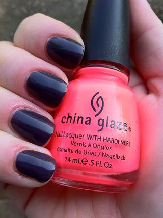 Essie Smokin Hot and China Glaze Flip Flop Fantasy