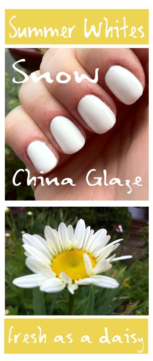 Snow china glaze fresh as a daisy