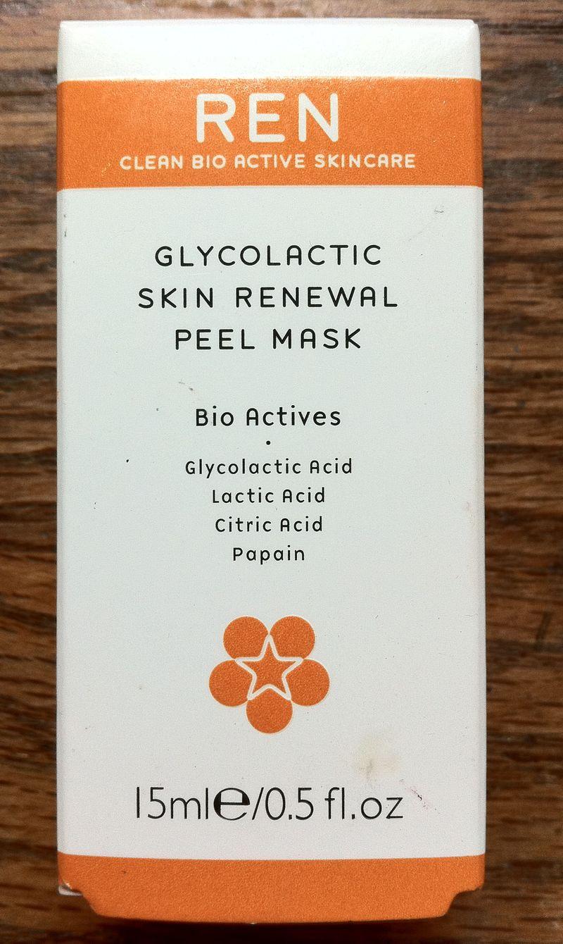 REN Glycolactic Skin Renewal Peel Mask box front