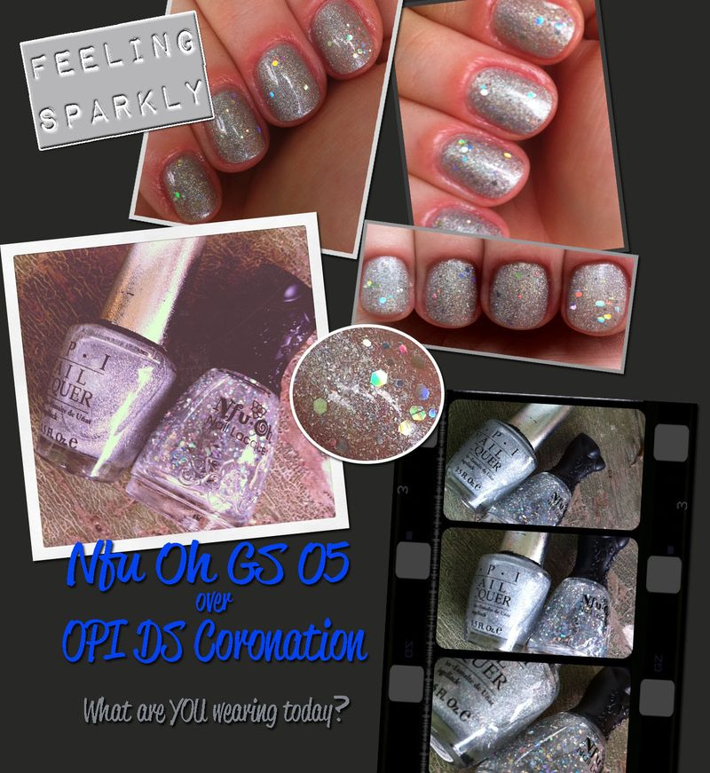Nail of the day nfu-oh gs05 opi ds coronation designer series nail polish lacquer