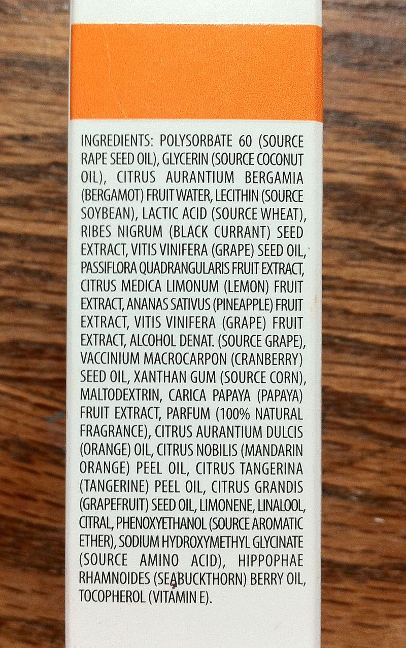 REN Glycolactic Skin Renewal Peel Mask ingredients